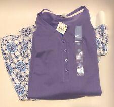 NWT Charter Club Super Soft Knit Top & Pants Pajamas Set Purple Size XL XLarge