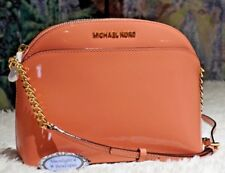NWT MICHAEL KORS EMMY MEDIUM CINDY CROSSBODY Bag In PEACH Patent Leather $248