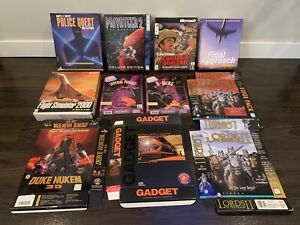 Lot Of Big Box PC Game Boxes And Manuals *NO GAMES* Vintage Rare Collectors Lot!