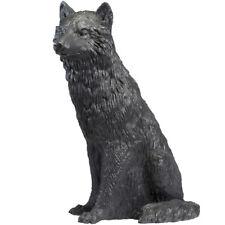 Wolf, umbragrau, lebensgroße Kunststofffigur, Ottmar Hörl 2017, Autorenprägung
