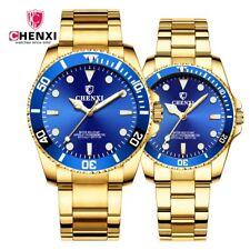 30m Waterproof Men's Woman`s Yellow Gold Luminous Charming Business Quartz Watch
