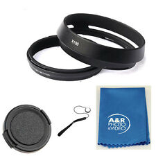 X100B 49mm Metal Filter Adapter Ring Lens Hood Set for Fujifilm X100S X100 + Cap