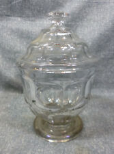 Antique EAPG Flint Glass Ashburton Covered Sugar Bowl