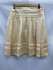 MNG Suit Size EUR 34 Fits Size 8 Light Yellow Silk Skirt