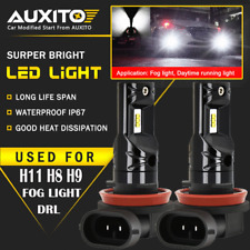 AUXITO H11 H8 LED Fog Light Car Driving Bulbs DRL 6000K High Power CSP 2600LM CN