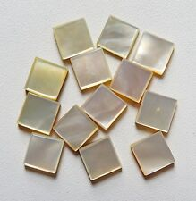 16.40 Ct. MOTHER OF PEARL SQUARE FLAT CABOCHON 13 PCS LOT 7X7X3 Gemstone India