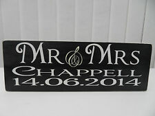 Shabby Personalised Mr & Mrs wedding plaque, chic and unique