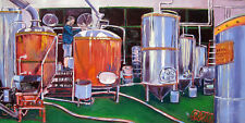 """Inside a Brewery"" Beer Themed Print, Signed by Artist"