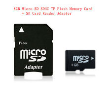 High Speed Universal MicroSD Memory Card Class 4  8GB SDHC TF + Free Adapter