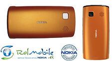 Carcasa Tapa Batería Original Nokia 0258972 Para Nokia 500 Color Naranja