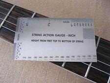 Guitar String Action Gauge - Inch