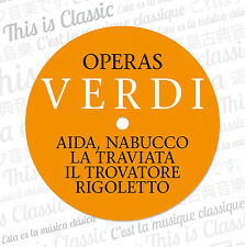 CD Giuseppe Verdi soap 10cds incl. Aida, Nabucco, Rigoletto, La traviate