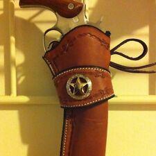 Western Leather Gun Holster Single Action Revolver
