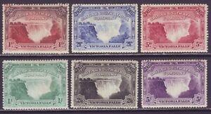 Rhodesia 1905 SC 76-81 MH Set Victoria Falls