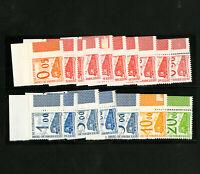 France Stamps # 31-47 VF Train series 17 values OG NH Scott Value $1,500.00