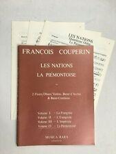Noten. Couperin. Les Nations -  La Piemontoise. Vol. IV.  Part. mit Stimmen.