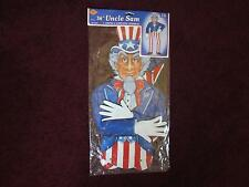 "New 1995 Beistle 36"" Patriotic Jointed Uncle Sam 4th of July New In Package Nip"