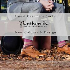 Men's Finest Cashmere Socks 5x1 Rib Pantherella Hand Made in England