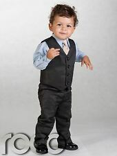 Boys Grey Suit, Boys Black Suit, Boys Beige Page Boy Suits, Boys Pinstripe Suit