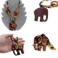 Price Boho Jewelry Hand Made Bead Ethnic Style Long Wood Elephant Pendant