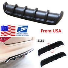 25'' x 5'' Matte Black Car Rear Shark Fin Style Curved Addon Bumper Lip Diffuser