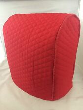 Red Quilted Double Faced Cotton Kitchenaid Lift Bowl Cover