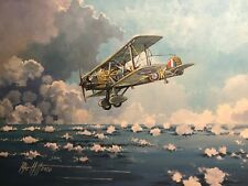 Original Acrylic Painting by P.Hill. Vickers Vildebeest RAF Bomber. Singapore 42
