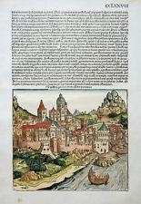 ÖSTERREICH DE AUSTRIA GERMANORUM CELEBRI PROVINCIA SCHEDEL CHRONIK KOBERGER 1493