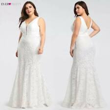 Mermaid Style Sleeveless Lace V neckline Wedding Dress