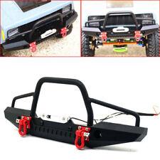 Metal Front Bumper w/ Winch Mount LED light For TRAXXAS TRX-4 TRX4 1/10 RC #A