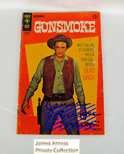 James Arness Marshal Dillon Gunsmoke Gold Key Comic #4 August 1969 Signed