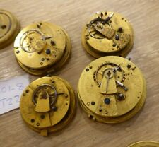 Watch Movements / x4 In Total Quality Lot Of Antique Fusee Gents Pocket