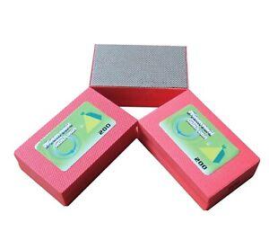 Diamond Hand Polishing Pad Glass Stone Marble Sanding Block 200grit