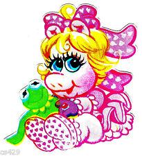 """5"""" MUPPET BABIES MISS PIGGY  CHARACTER WALL SAFE STICKER BORDER CUT"""