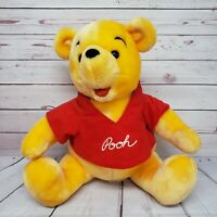 "Disney Store 14"" Winnie the Pooh Canasa Trading Seated Plush"