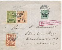 WWI: Germany – Poland: Warsaw Cover with scarce Stamps.