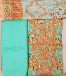 Pakistani Designer Lawn(NewArrival)EMB 3Piece Suit &Lawn chiffon Dupatta