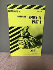 Cliffs Notes On Shakespeare's Henry IV Part 1