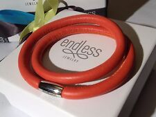 Endless Jewelry 42cm Coral Bracelet Double Strand Rose Clasp rrp £50