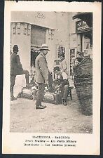 POSTCARD Macedonia Thessaloniki Small Traders Shoe Polisher c1915 perf