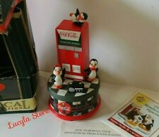 1997 Coca - Cola brand Musical Collection Animated Box Dancing Penguins