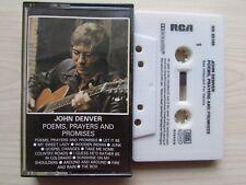 JOHN DEVER POEMS, PRAYERS AND PROMISES CASSETTE, 1971 RCA, GERMAN TAPE, TESTED.