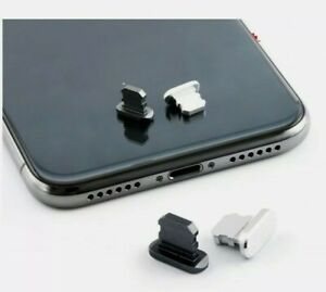 Alum Lightning Port Dust Plug Charging Cover iPhone 11 X XR Max 8 7 6S Plus Silv