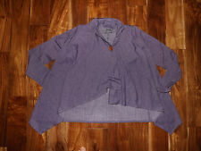 NWT Womens Joseph A Cardigan Shrug Sweater Purple HEATHER Size S Small