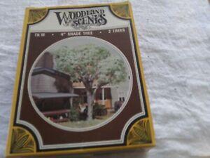 """Woodland Scenics  HO Scale TK 19 4"""" shade Tree 2 Trees Kit"""