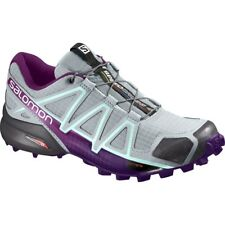 Salomon Speedcross 4 Women Ladies Trail Running Shoes Cross CS XA Pro Grey Quarry-acai-fair Aqua 394664 UK 5 5