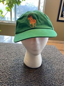 Polo Ralph Lauren Green Hat Orange 3 Adjustable