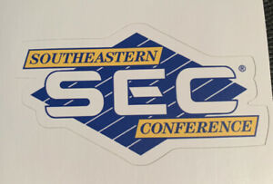 """SEC Old Logo Sticker Southeastern Conference 3.75"""" Wide - Free Shipping"""