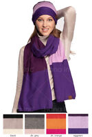 ScarvesMe C.C Women's Brilliant Color Block Knit Winter Fall Warm Oblong Scarf