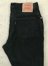 Levis 550 Relaxed Straight Denim Jeans Mens W34 L32 Black Red Tab